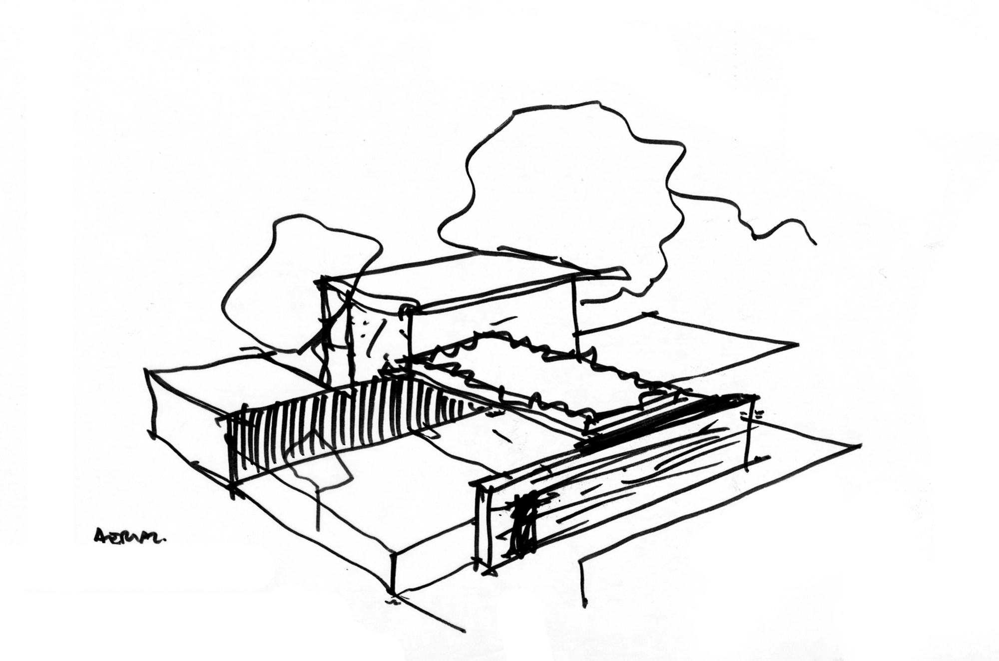 Gmc Drawing At Free For Personal Use 2003 Starter Diagram 2000x1324 Gallery Of Hunters Hill House Arkhefield