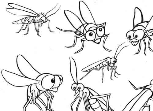 500x363 I Hate Flies And Gnats But Have To Draw Them So Cute. Yi's Blog