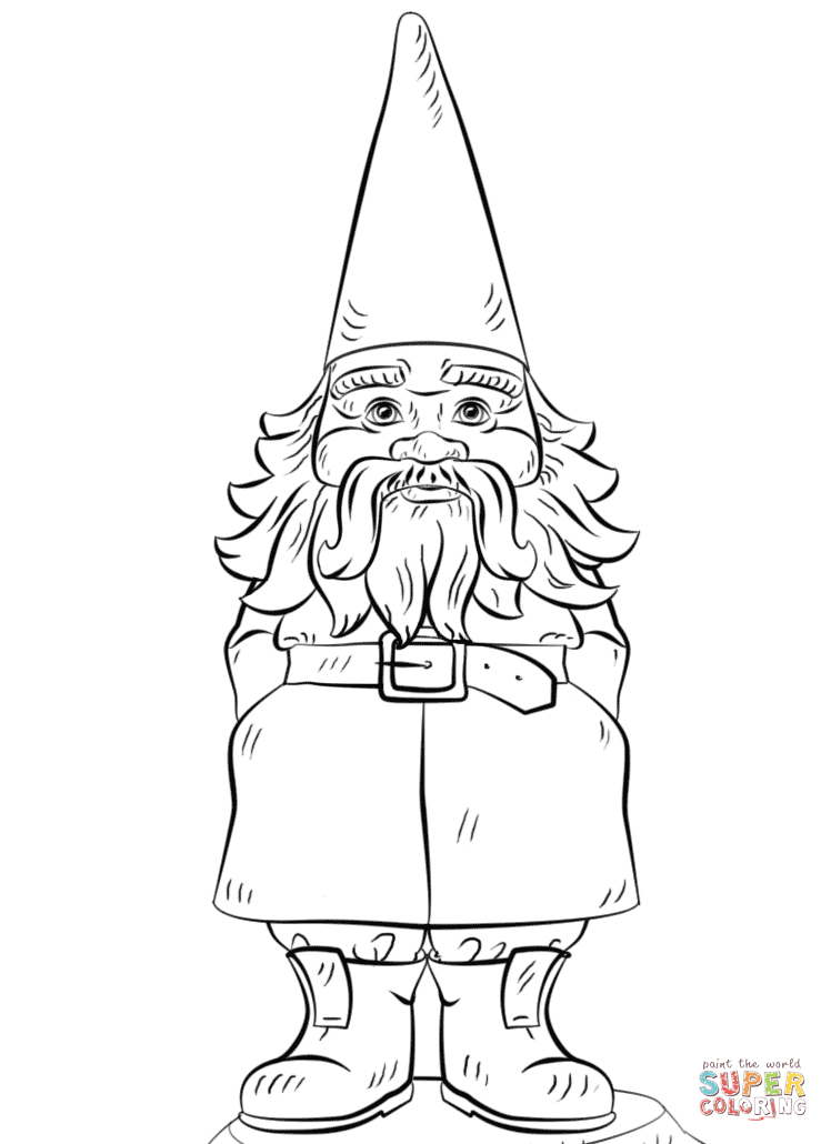 748x1030 Gnome Coloring Pages Garden Gnome Coloring Page Free Printable