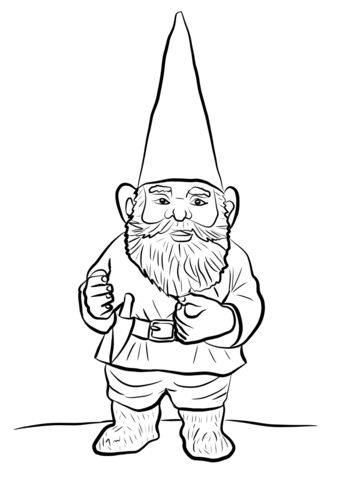 343x480 Gnome Coloring Pages Garden Gnome Coloring Page Free Printable