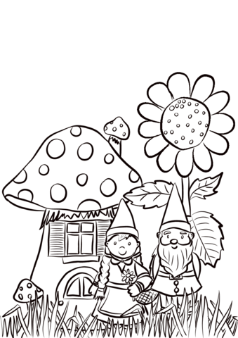 339x480 Garden Gnomes Family Coloring Page Free Printable Coloring Pages