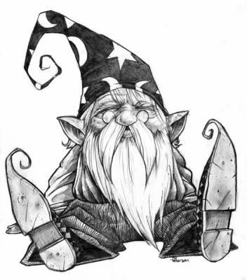 352x400 Wizard Zentangles Gnomes, Fairy And Draw