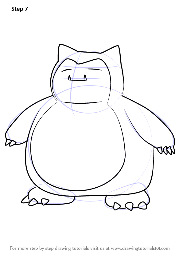 596x842 Learn How To Draw Snorlax From Pokemon Go (Pokemon Go) Step By