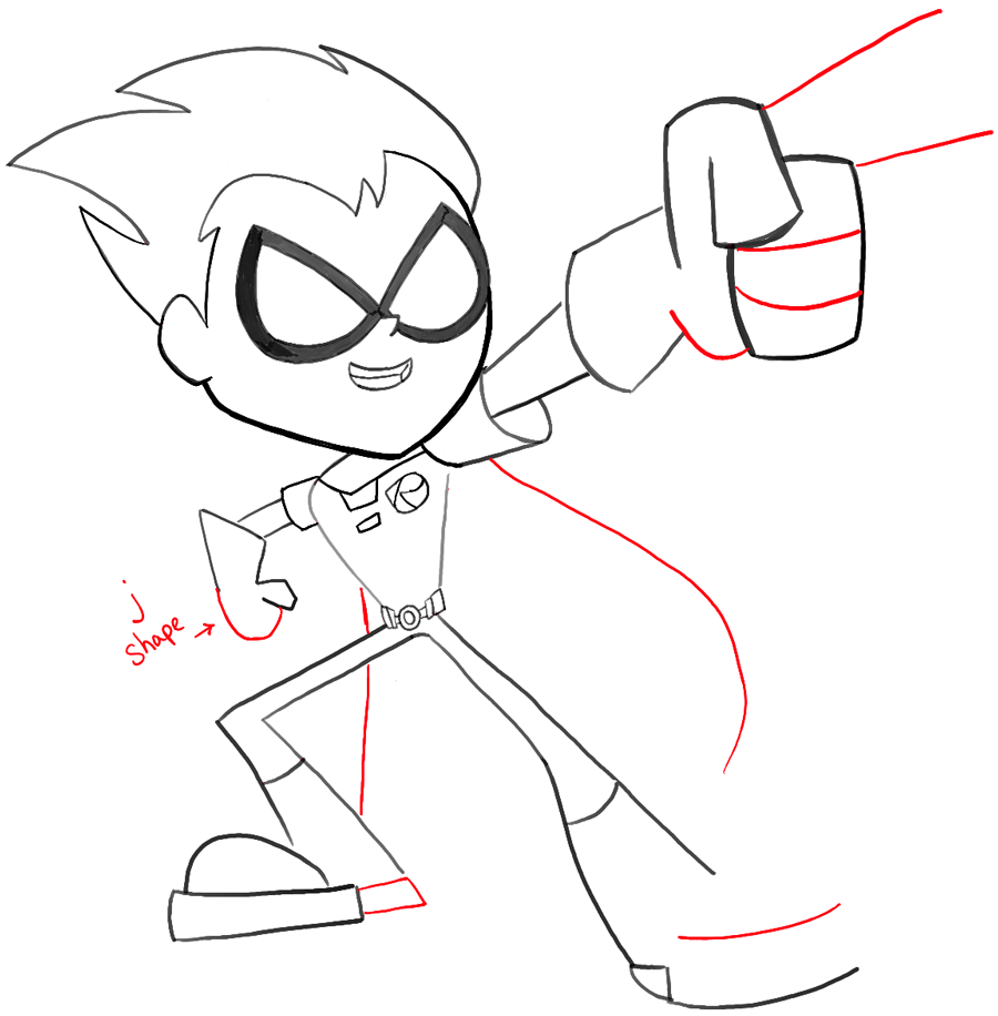 900x916 How To Draw Robin From Teen Titans Go With Easy Steps Tutorial
