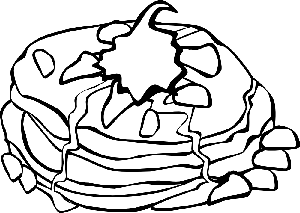 1000x711 Go Foods Clipart Black And White
