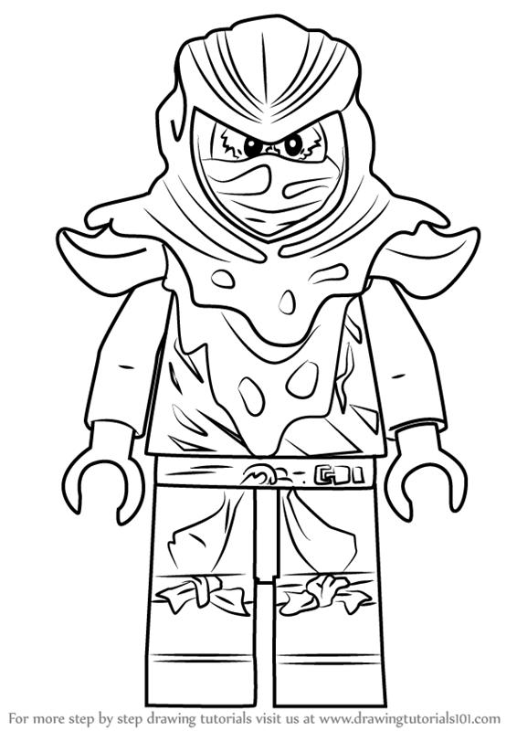 566x800 Learn How To Draw Evil Green Ninja From Ninjago (Ninjago) Step By