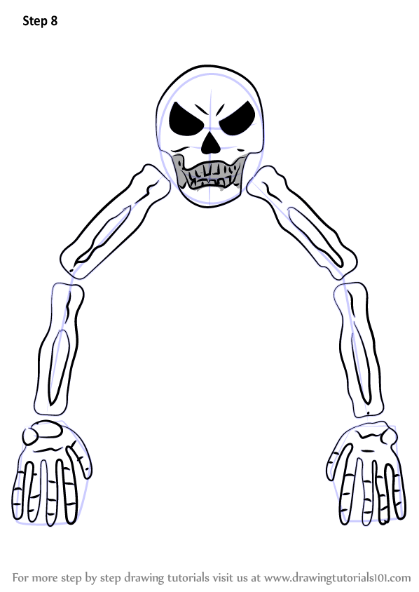 598x844 Learn How To Draw Skeletron From Terraria (Terraria) Step By Step
