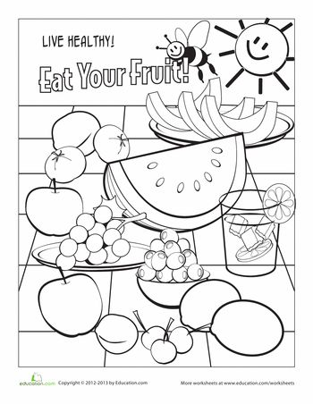 350x452 Color The Vitamin C Rich Foods Worksheets, Vitamins And Activities