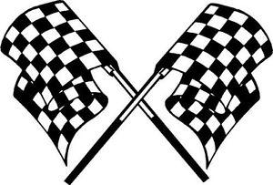 300x203 Checkered Flag Motorcycle Go Kart Race Car Golf Cart Trailer Hood
