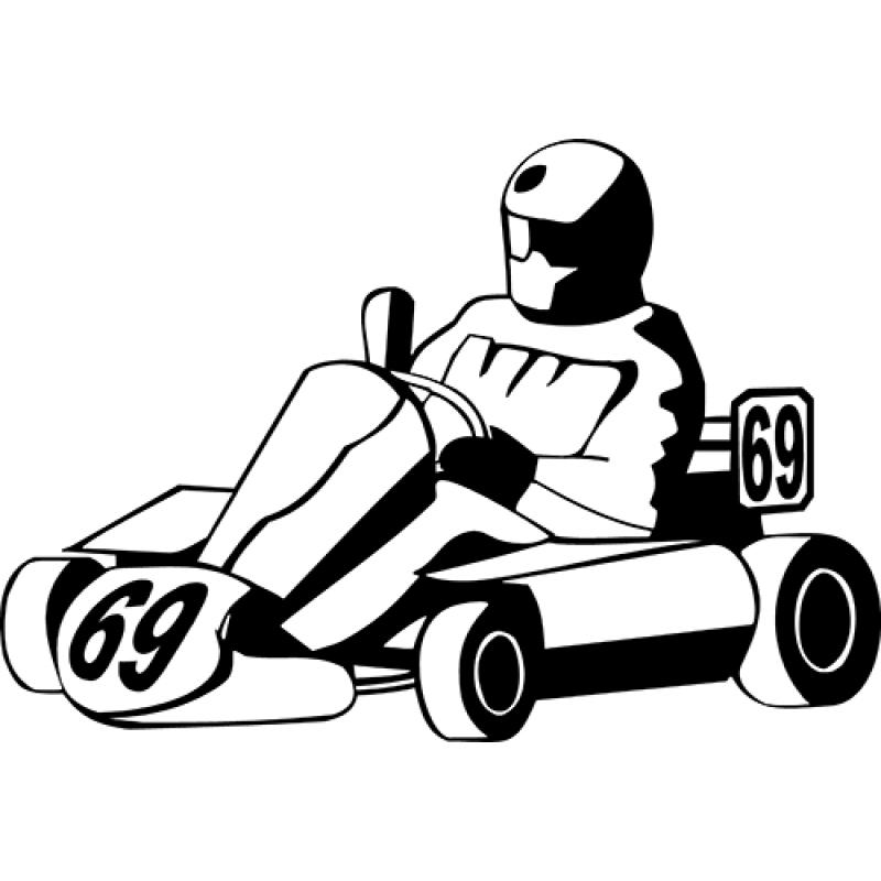 800x800 Go Kart Decal Sticker