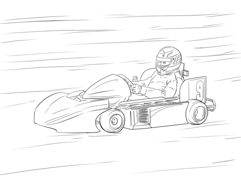 480x360 Go Kart Coloring Page Free Printable Coloring Pages