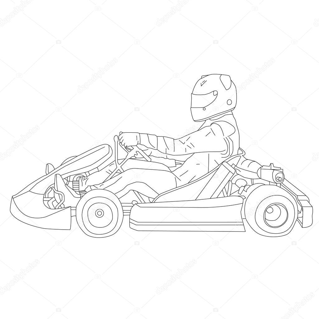 1024x1024 Go Kart Complex Vektor 1 Stock Vector Salimgor