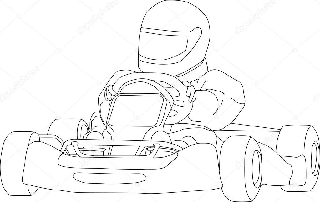 1023x647 Go Kart Stock Vector Pavelmidi
