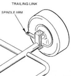 230x244 Leading Link Go Kart Parts Link