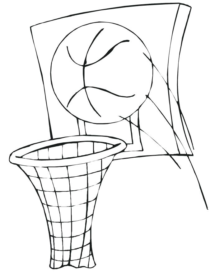 675x873 Good Basketball Hoop Coloring Page Best Of By Pages Goal Sheet