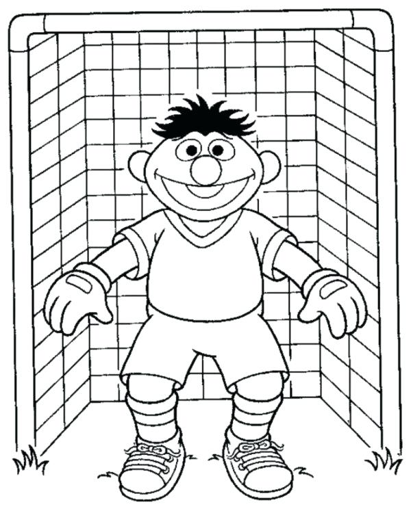 600x747 Soccer Coloring Page Sesame Street Goal Keeper Soccer Coloring