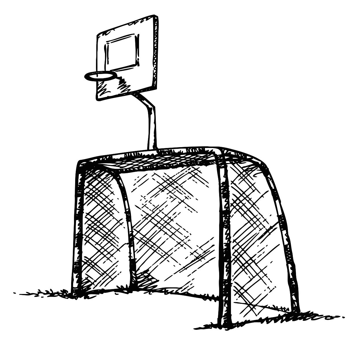 1235x1235 Two Basketball Players Printable Image Illustration Sketch For Two