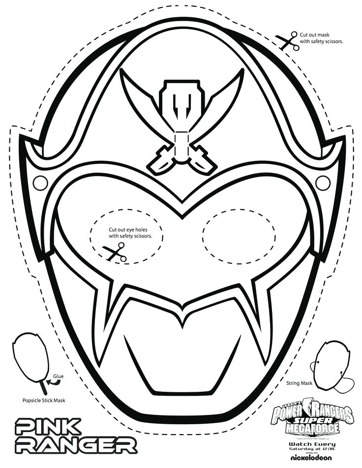 736x952 Mask Coloring Pages Power Rangers Mask Coloring Pages Best Power
