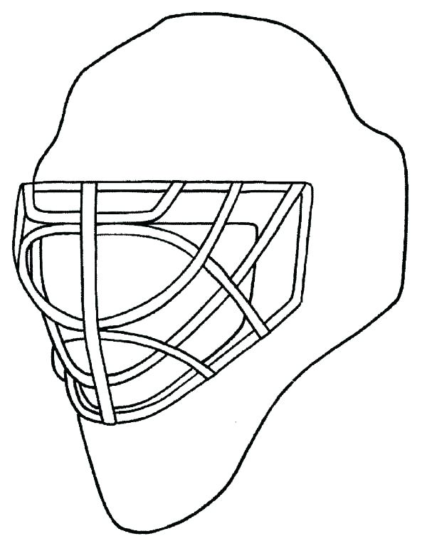 600x767 Hockey Goalie Mask Coloring Pages