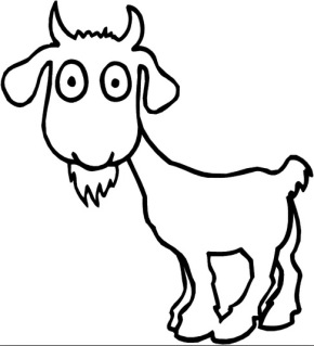 290x319 Goat Cartoon Goat Coloring Page. Goat.
