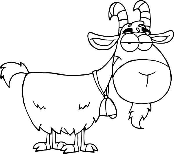 600x530 Goat Cartoon Character Coloring Pages Color Luna