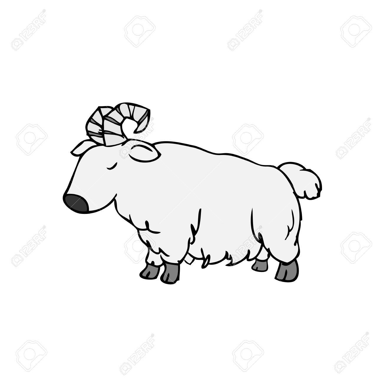 1300x1300 Goat Cartoon Drawing Characters Doodle Royalty Free Cliparts