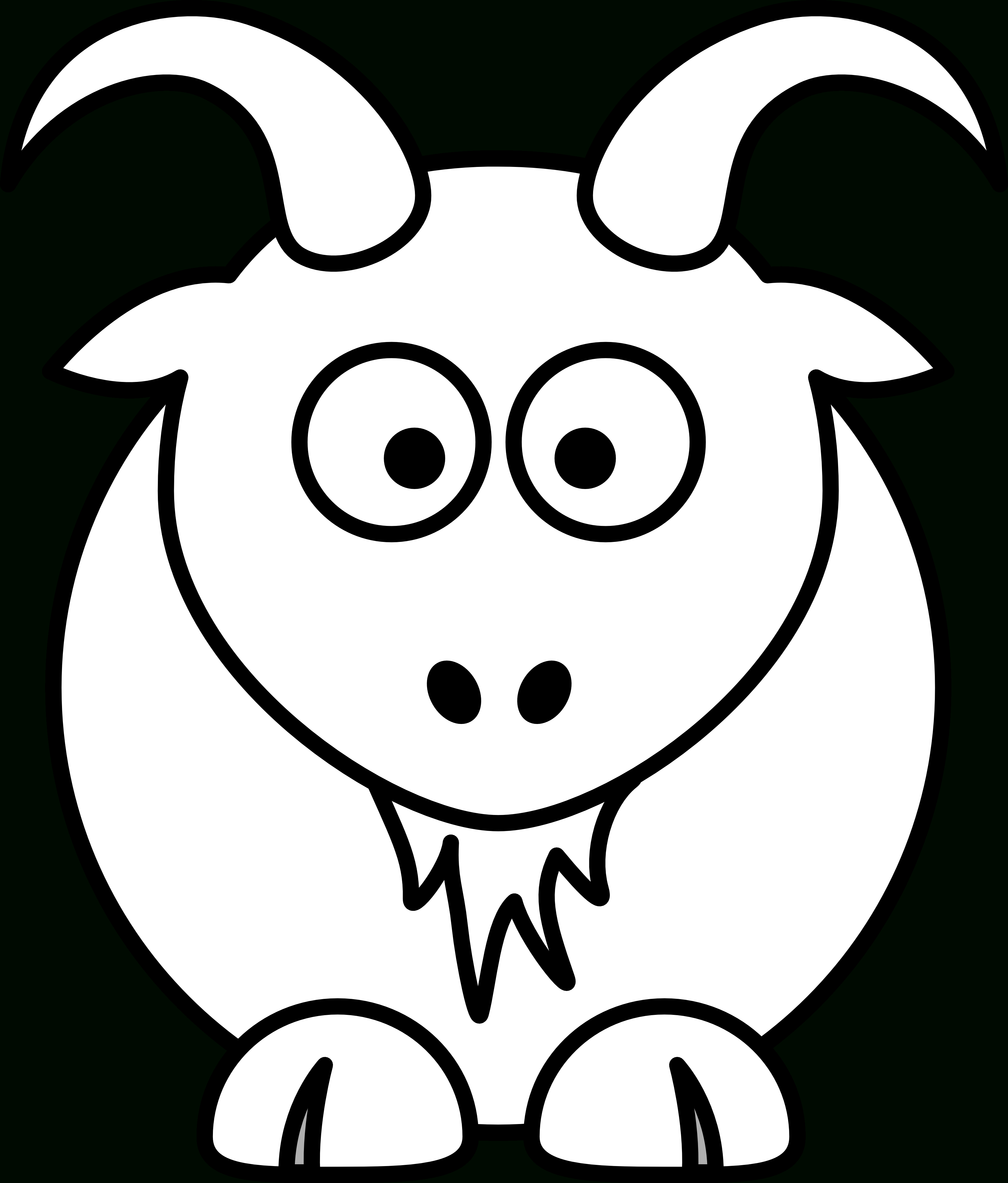 3333x3912 Goat Drawing Cartoon Pictures
