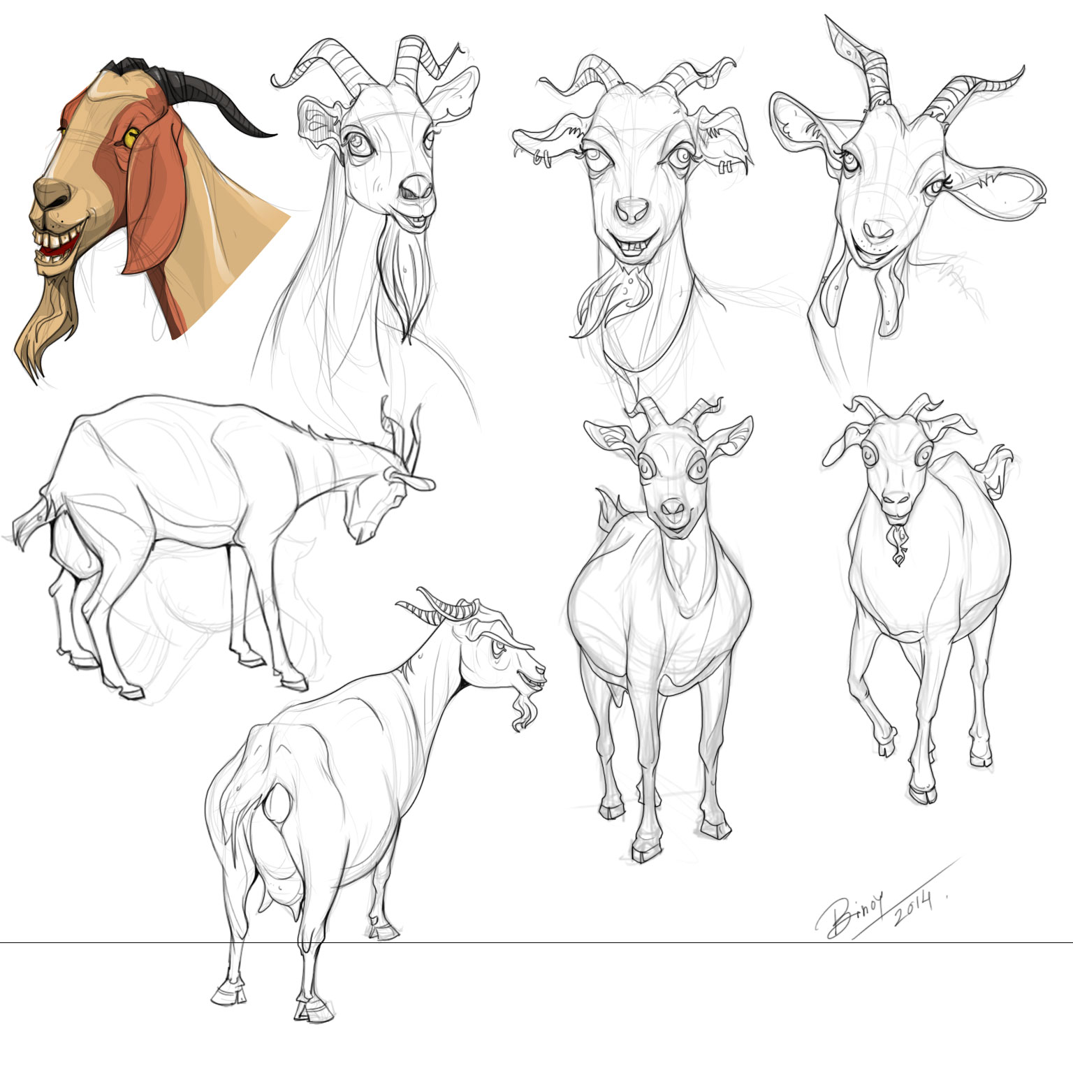 Goat Drawing at GetDrawings.com | Free for personal use Goat Drawing ...