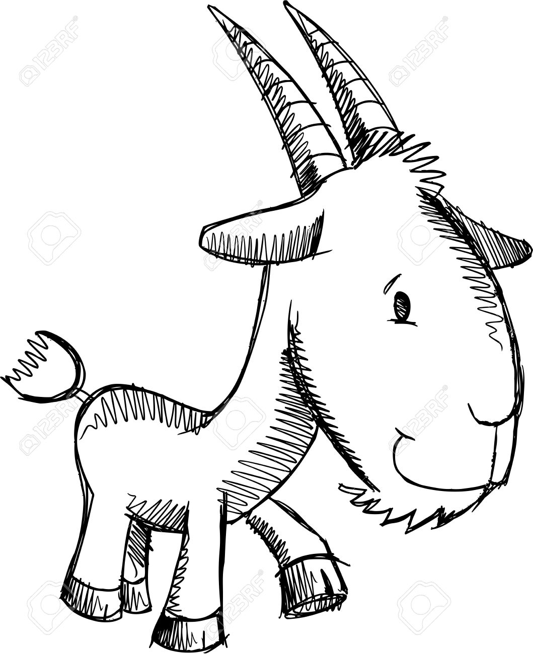 1059x1300 Farm Goat Sketch Doodle Royalty Free Cliparts, Vectors, And Stock