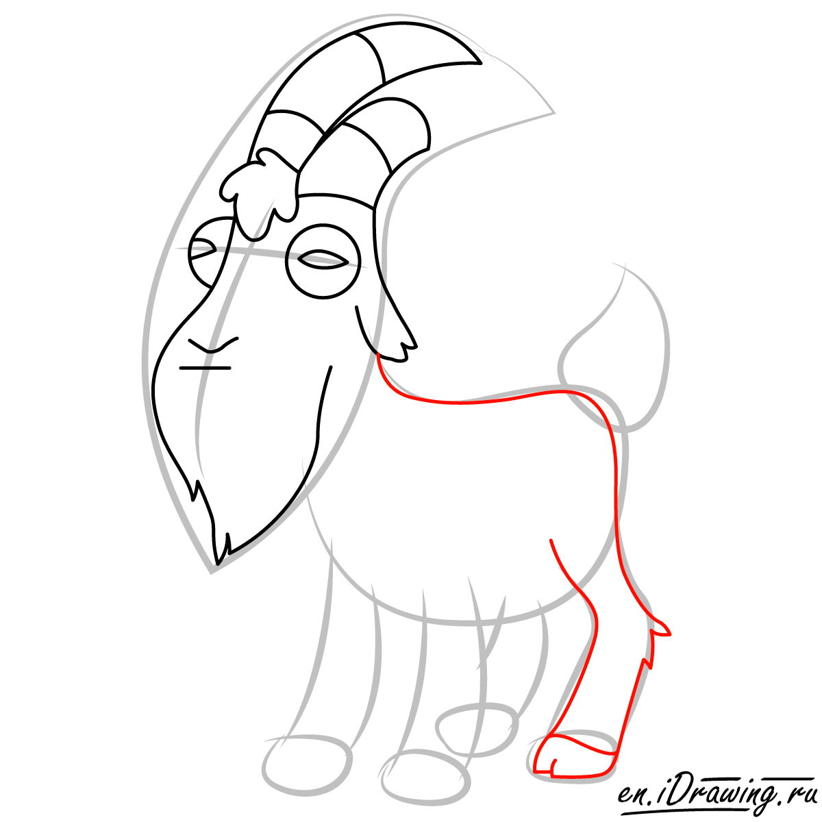 1200x1200 How To Draw Gompers The Goat