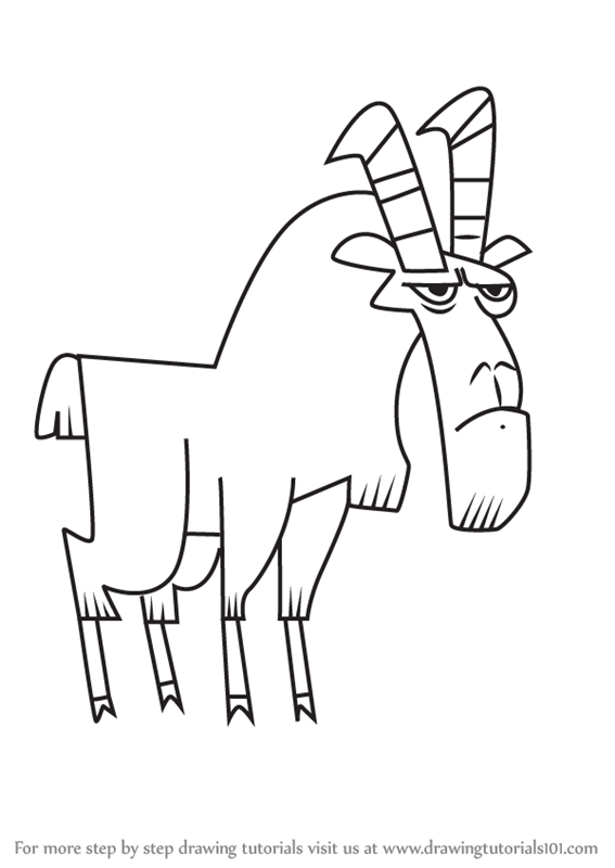 567x800 Learn How To Draw Goat From Total Drama (Total Drama) Step By Step