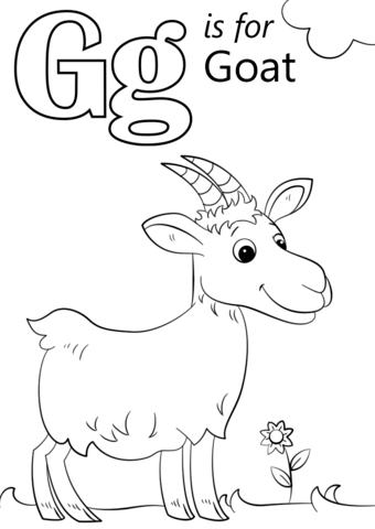 340x480 Letter G Is For Goat Coloring Page Free Printable Coloring Pages