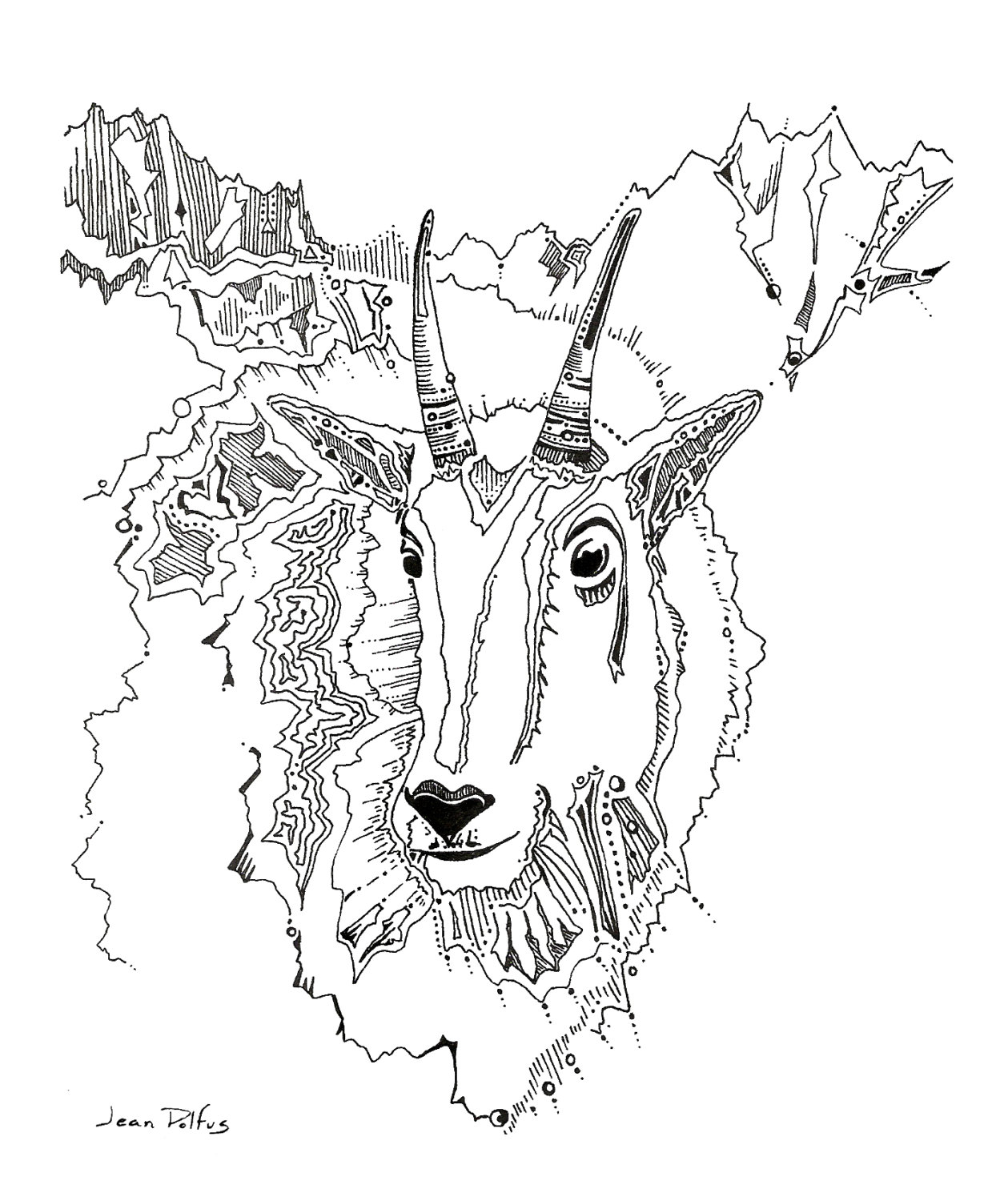 1259x1500 Mountain Goat Coloring Sheet Page Image Clipart Images