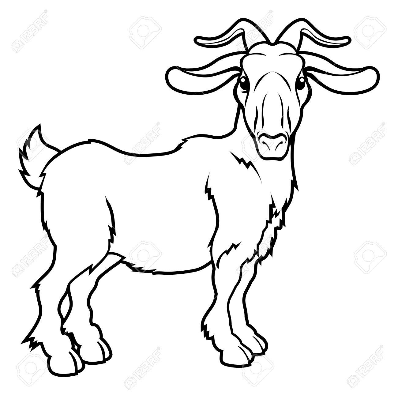 1300x1290 Inspiring Goat Tattoo Designs