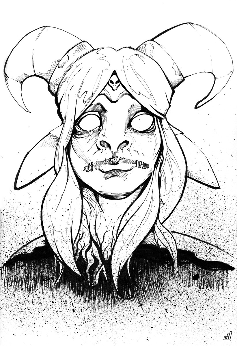 821x1199 Goat Witch By Adam Mudrinic
