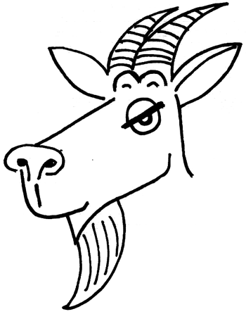 350x446 How To Draw Cartoon Billy Goats With Simple Drawing Tutorial
