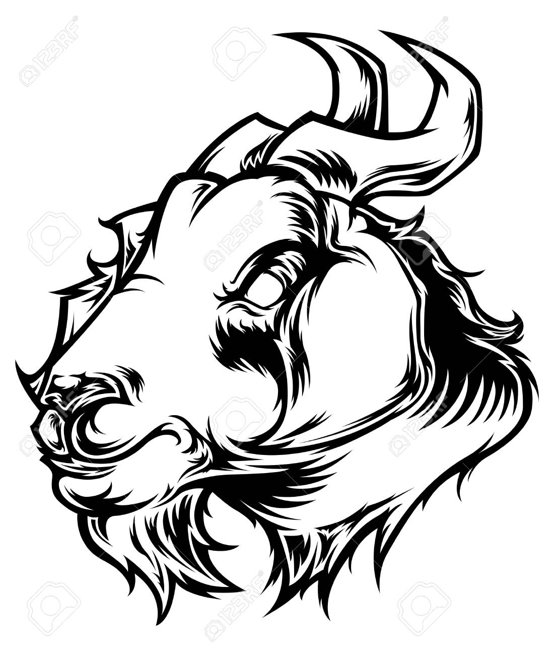 1102x1300 Goat Head Vector Royalty Free Cliparts, Vectors, And Stock
