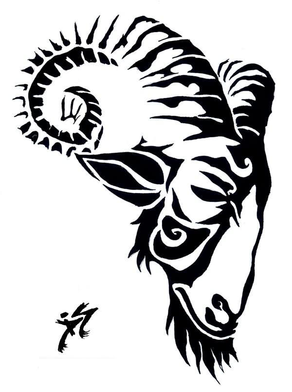 600x804 Inspiring Goat Tattoo Designs