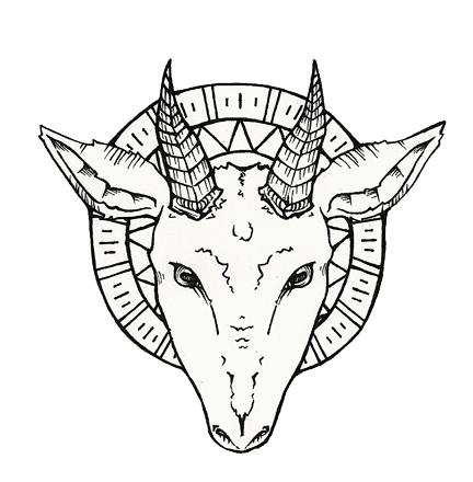 432x440 Tattoo Lettering Goat Head Tattoo Designs