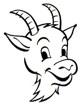 288x364 Billy Goat Head Clipart