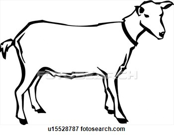 350x271 Drawing Clipart Goat