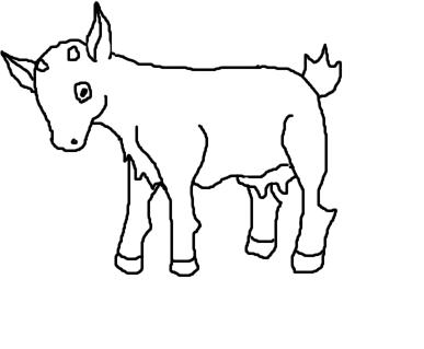 387x319 Goat Line Art By Sierrasweet