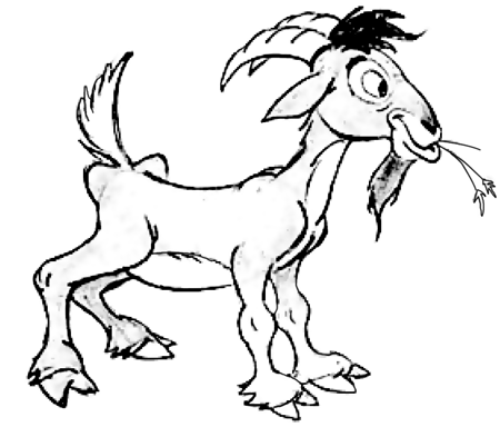 450x384 How To Draw Cartoon Billy Goats Step By Step Drawing Tutorial