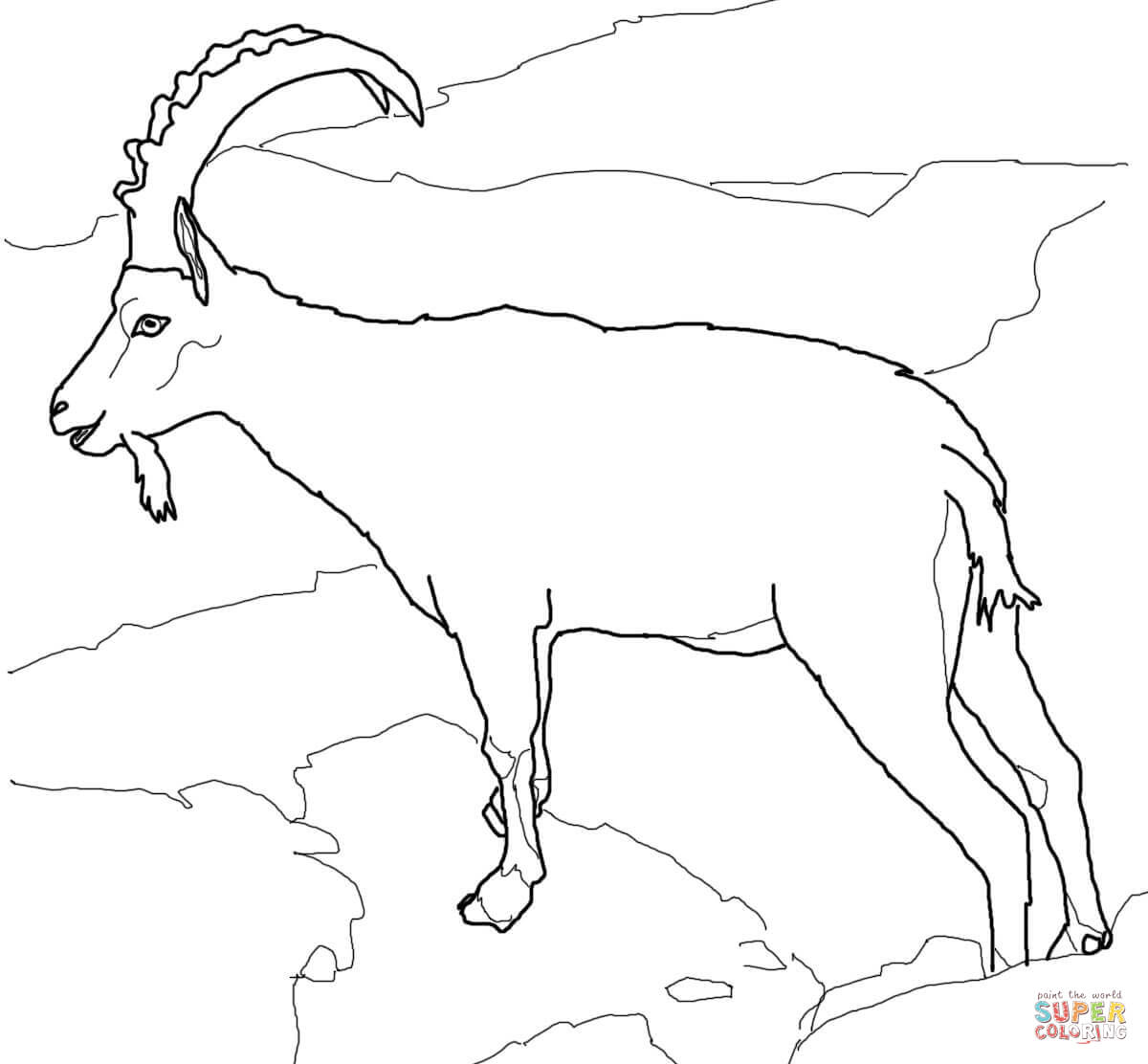 1200x1112 Wild Goats Coloring Pages Free