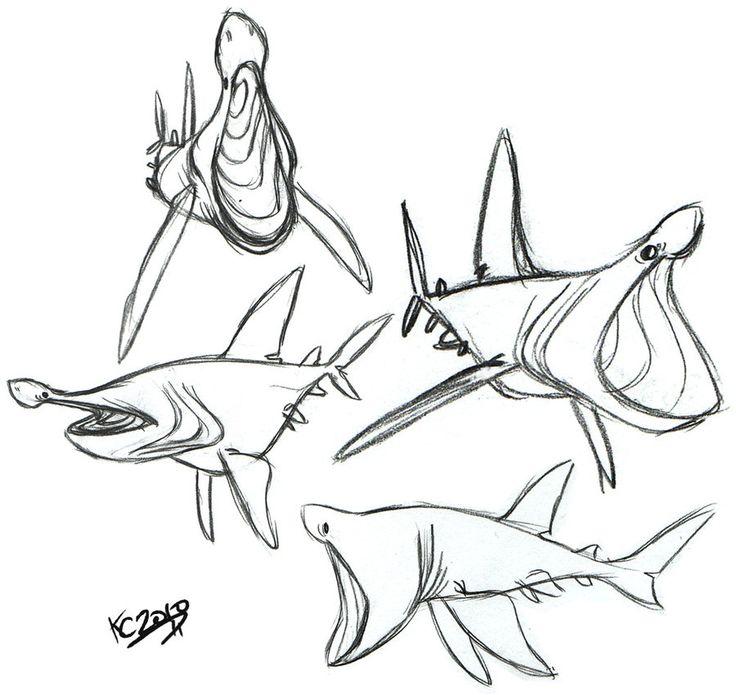 Goblin Shark Drawing at GetDrawings | Free download