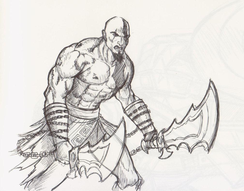 1009x792 Kratos God Of War By Wavingcolours
