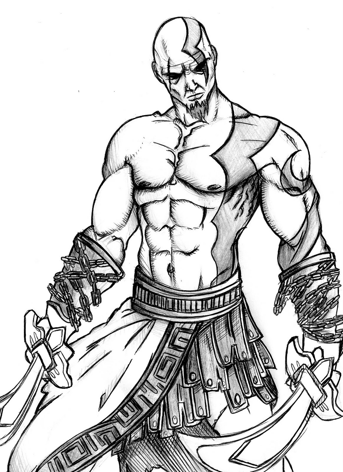 1163x1600 Prancheta Pencil Art God Of War