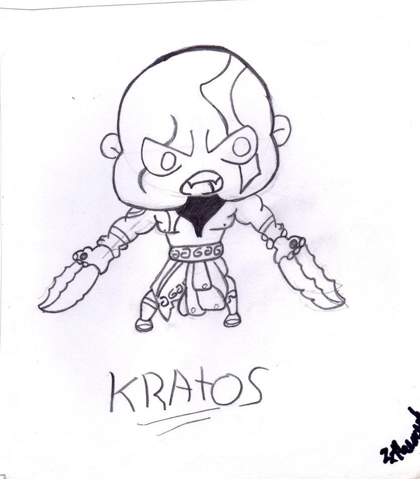 837x955 Old Kratos Chibi (God Of War) By Deejr