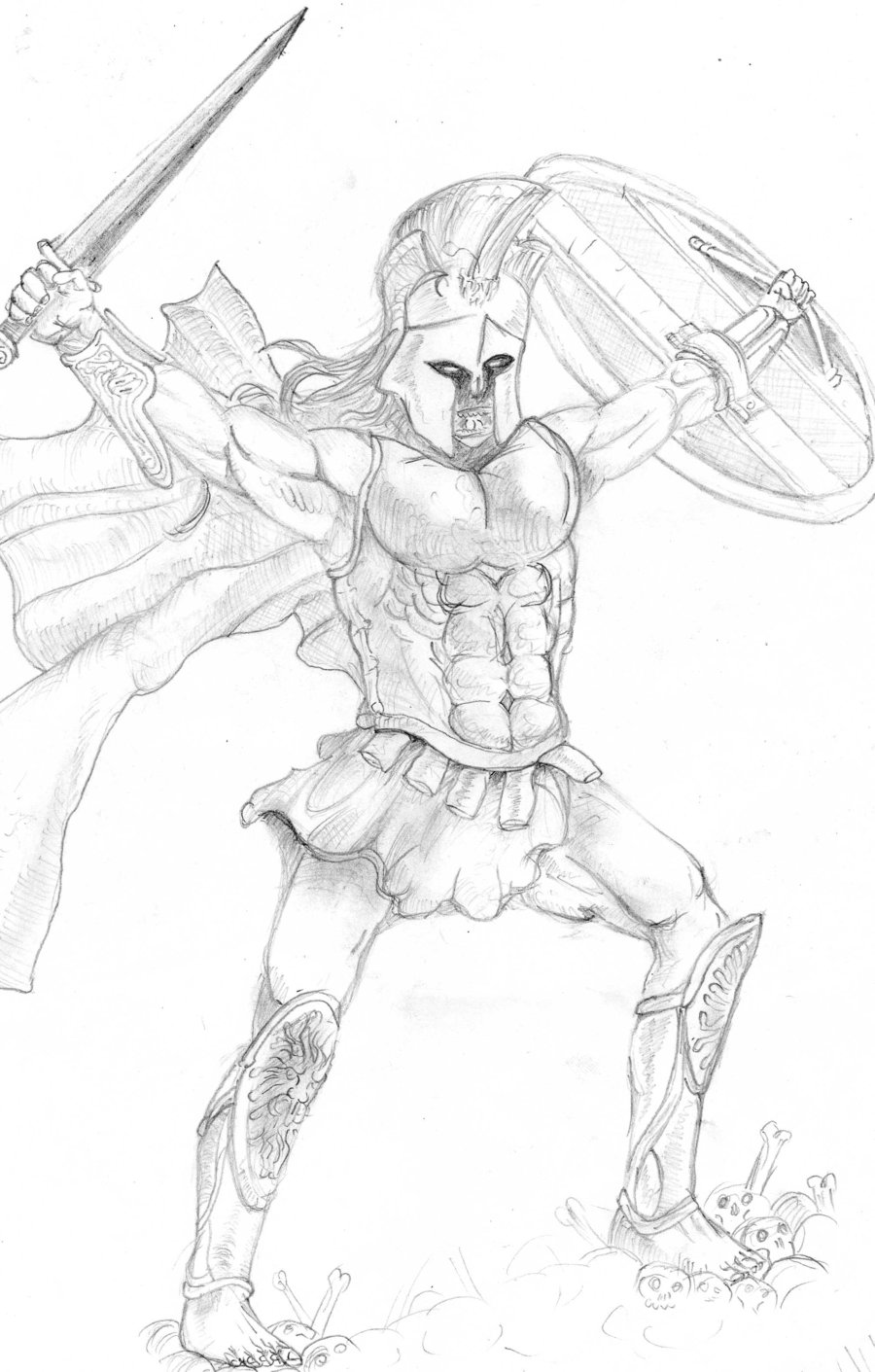 900x1411 Ares, God Of War By Hidde228