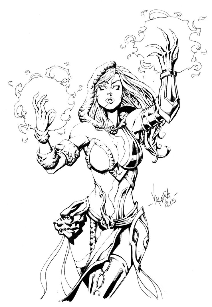 743x1076 Hel, Goddess Of Underworld By Rv1994